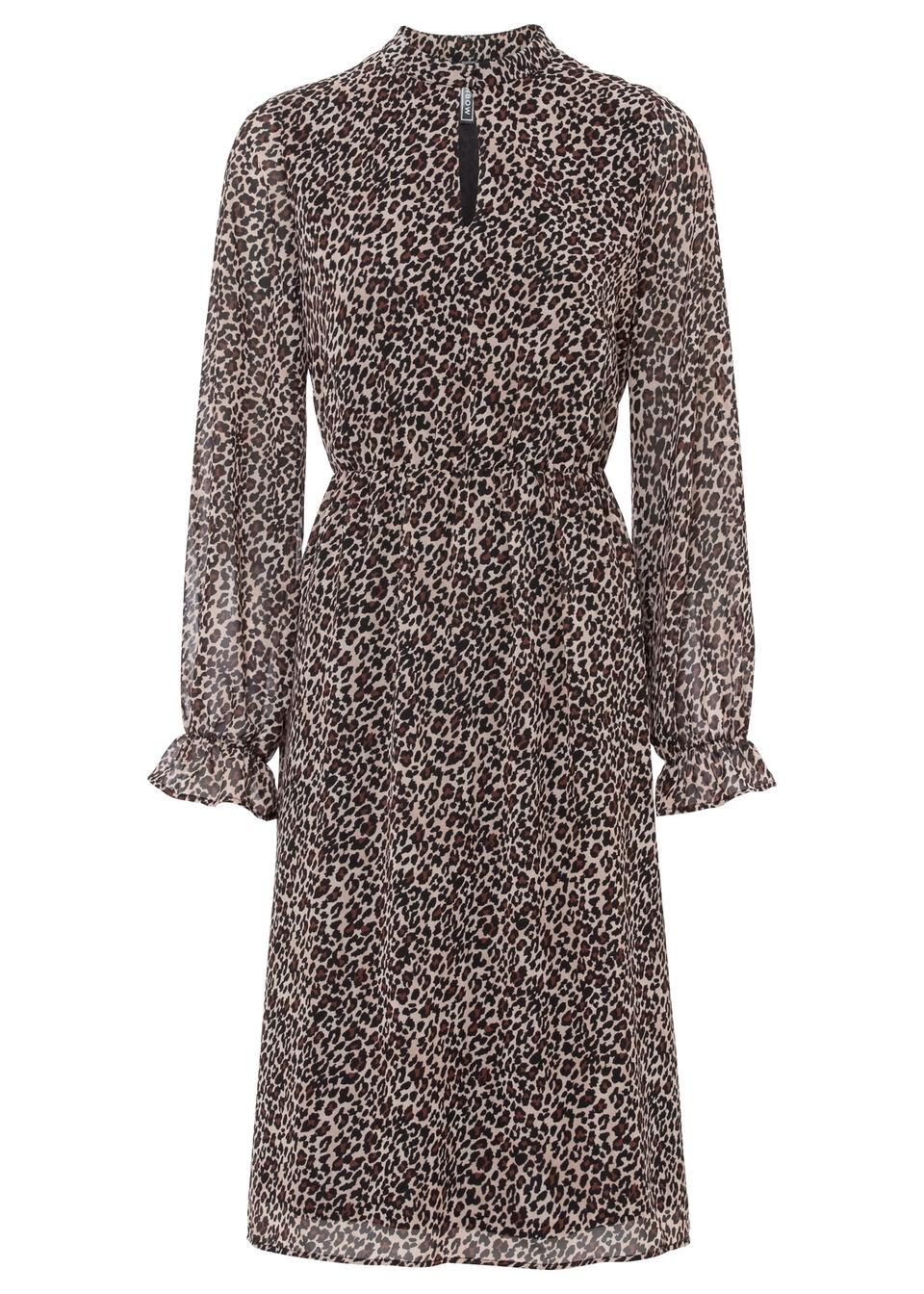 Sukienka bonprix beżowy leo