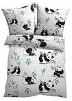 Lenjerie pat cu panda alb bpc living bonprix collection 13