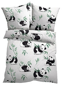 Lenjerie pat cu panda alb bpc living bonprix collection 0