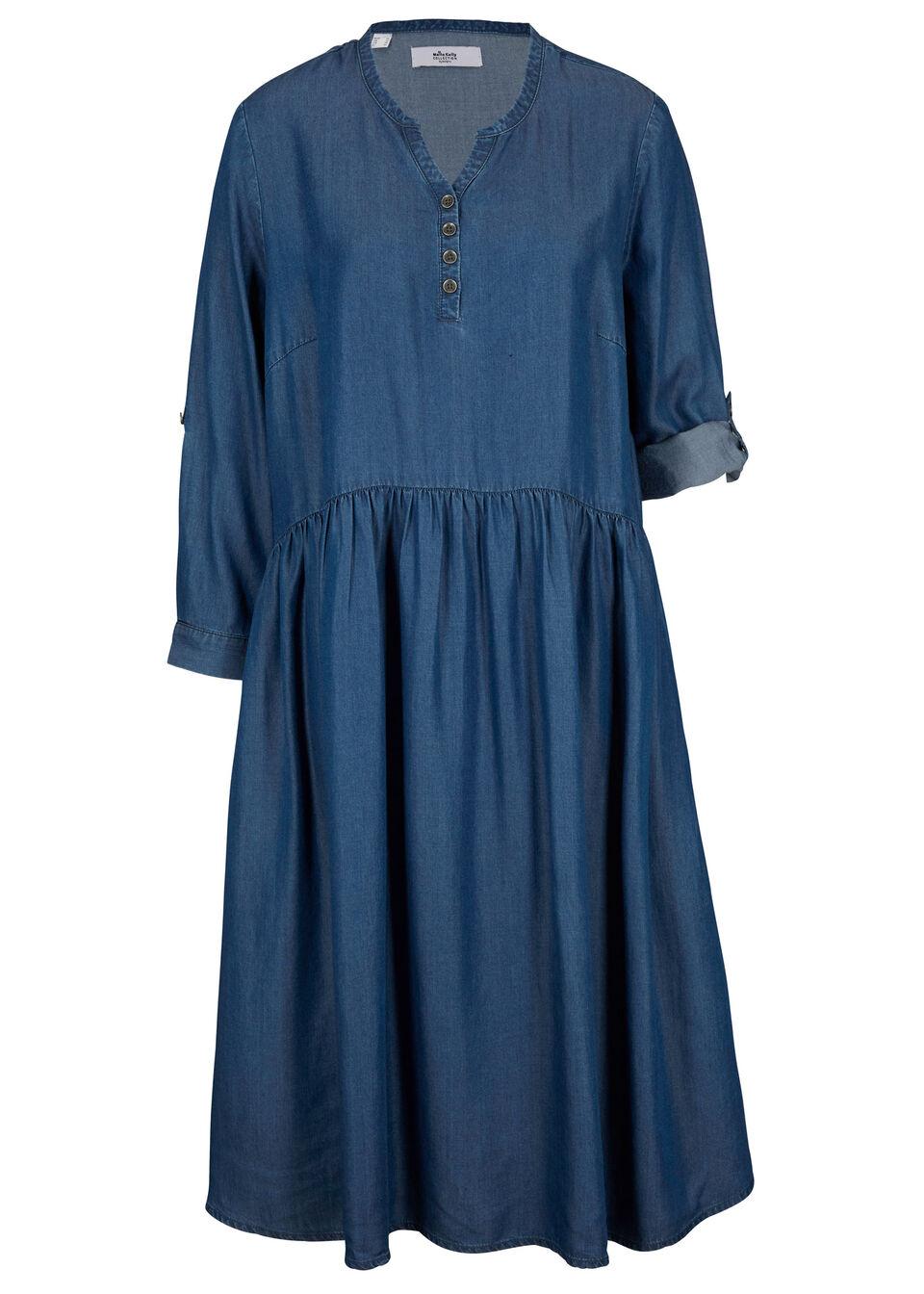 Sukienka koszulowa z kolekcji Maite Kelly, Lyocell TENCEL™ bonprix niebieski