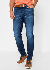Regular Fit sztreccsfarmer, Tapered kék kőmosott John Baner JEANSWEAR 1