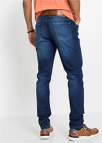 Regular Fit sztreccsfarmer, Tapered kék kőmosott John Baner JEANSWEAR 2