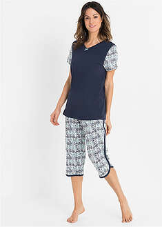 Pijama capri din bumbac organic bpc bonprix collection 35