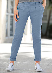 Pantaloni chino stretch albastru bpc bonprix collection 6