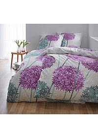 Lenjerie florală de pat bej bpc living bonprix collection 1
