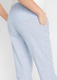 Pantaloni gravide cu in alb/albastru dungat bpc bonprix collection 5