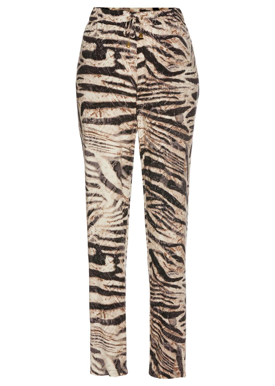 Spodnie Marlena bonprix w paski zebry