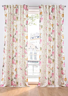Draperie cu imprimeu floral (1buc/pac) bpc living bonprix collection 3
