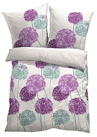 Lenjerie florală de pat bej bpc living bonprix collection 0
