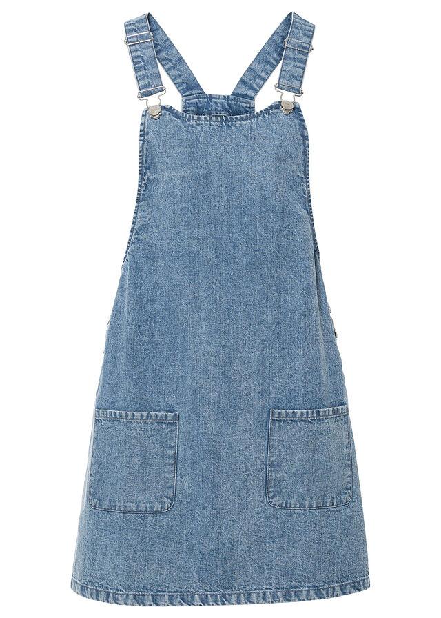 Džínsové šaty na traky