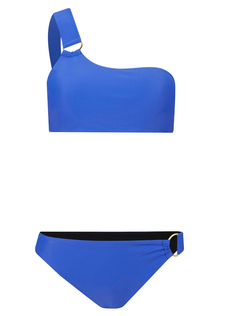 Bikini bandeau (2 części) bonprix ciemnoniebieski