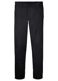 Pantaloni chino stretch Slim Fit cu aspect lucios, Straight negru RAINBOW 0