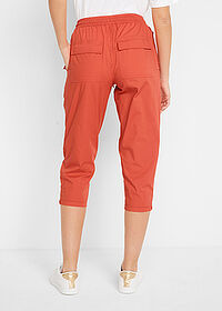 Pantaloni 3/4 cu croi carrot, lejeri cărămiziu bpc bonprix collection 2