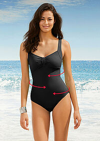 Costum de baie modelator, nivel 1, sustenabil negru bpc bonprix collection 1