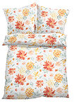 Lenjerie de pat cu design floral oranj bpc living bonprix collection 6