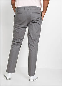 Pantaloni chino stretch Slim Fit cu aspect lucios, Straight negru RAINBOW 2