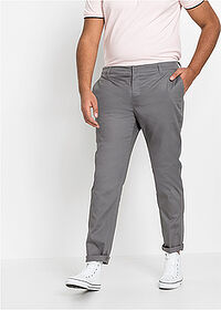 Pantaloni chino stretch Slim Fit cu aspect lucios, Straight negru RAINBOW 1