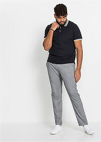 Pantaloni stretch slim fit, conici gri cadrilat RAINBOW 3
