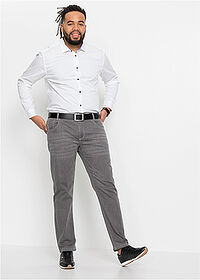 Blugi stretch Regular Fit Straight gri denim deschis bpc selection 3