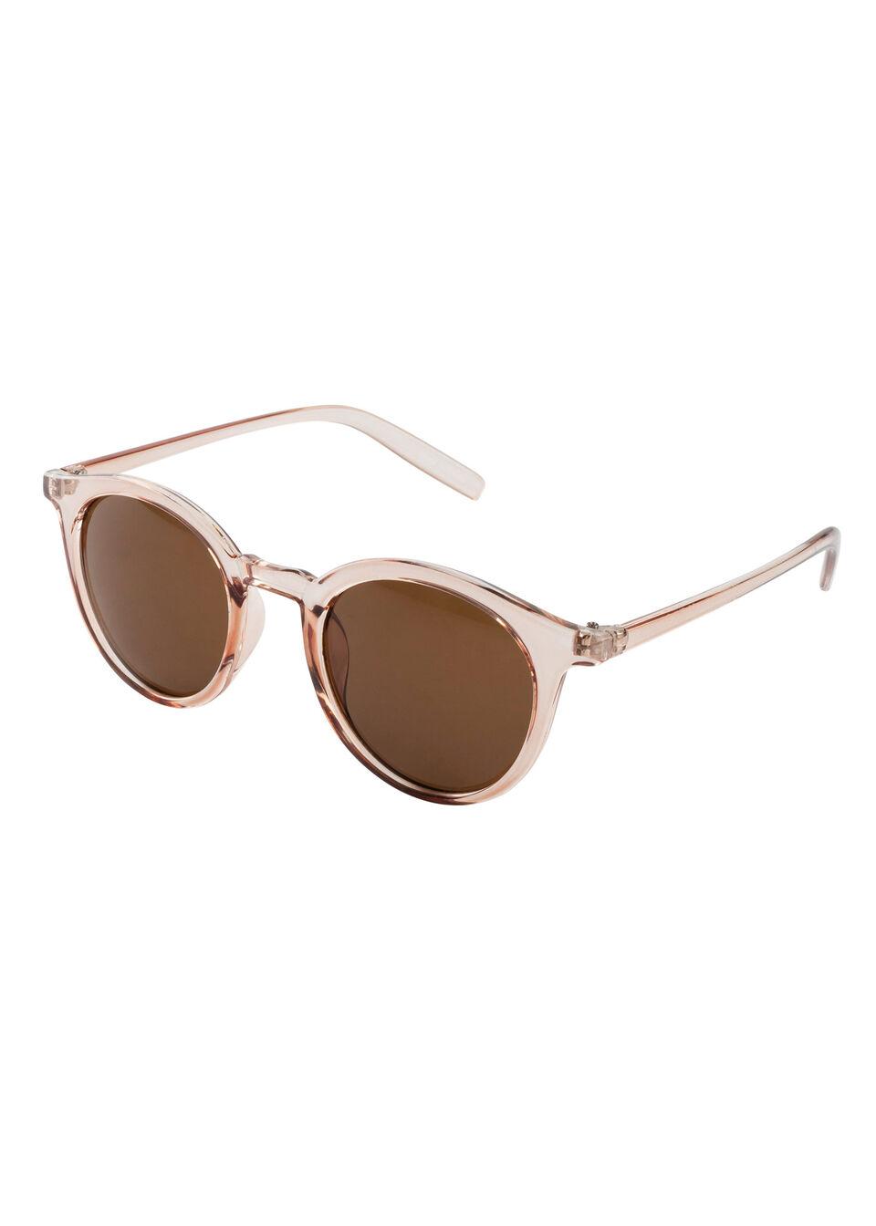 Okulary przeciwsłoneczne bonprix pudrowy jasnoróżowy - brązowy