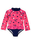 Costum de baie pink-albastru imprimat bpc bonprix collection 8