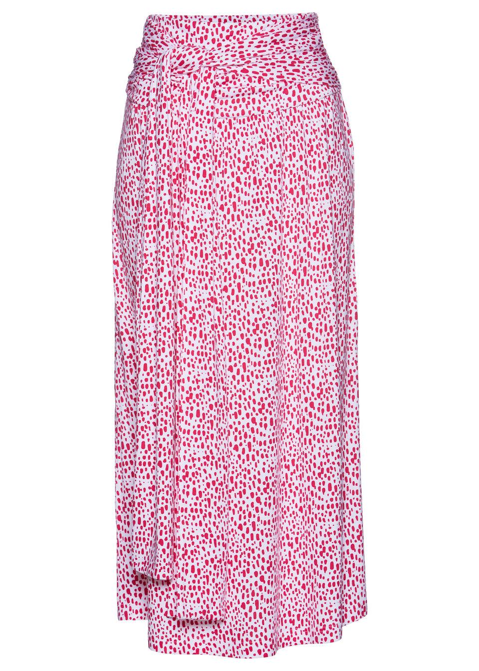 Spódnica 3 w 1 bonprix biało-różowy w kropki