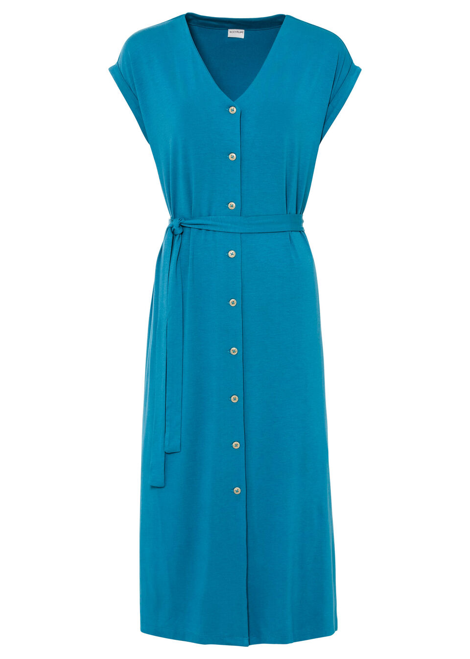 Sukienka midi bonprix zielony oceaniczny