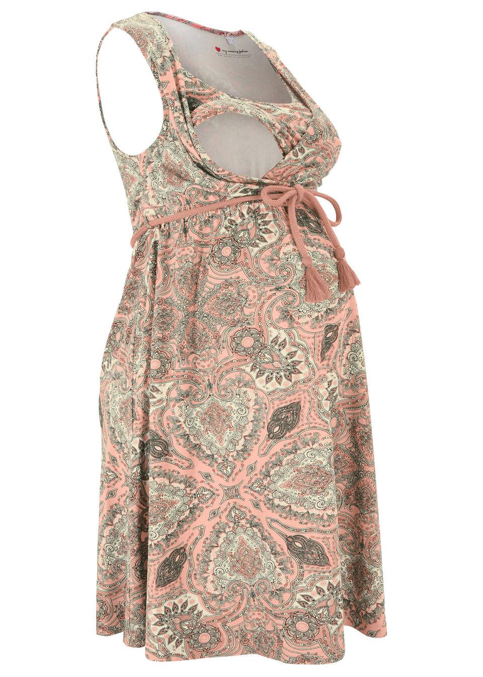 Sukienka ciążowa i do karmienia LENZING™ ECOVERO™ bonprix czerwony paisley