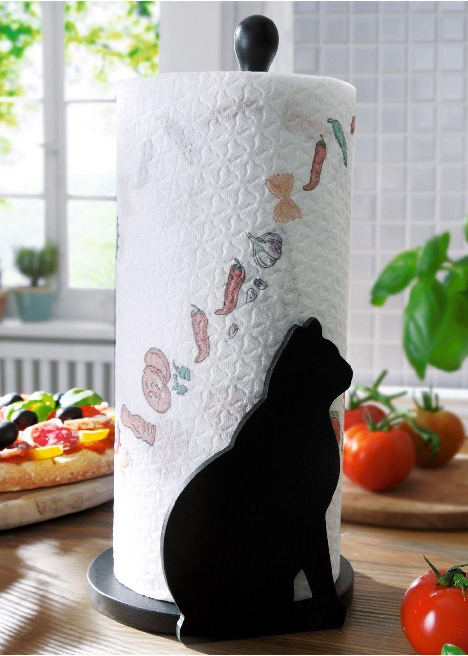 Держатель для кухонных полотенец «Кошка»