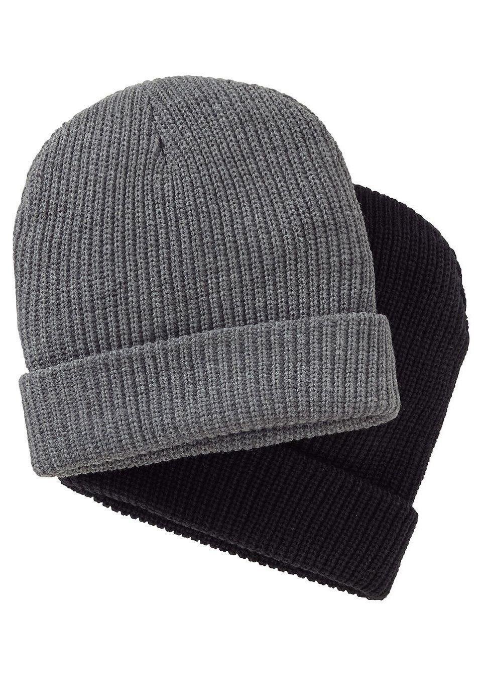 Вязаная шапочка для мужчин (2 шт.)
