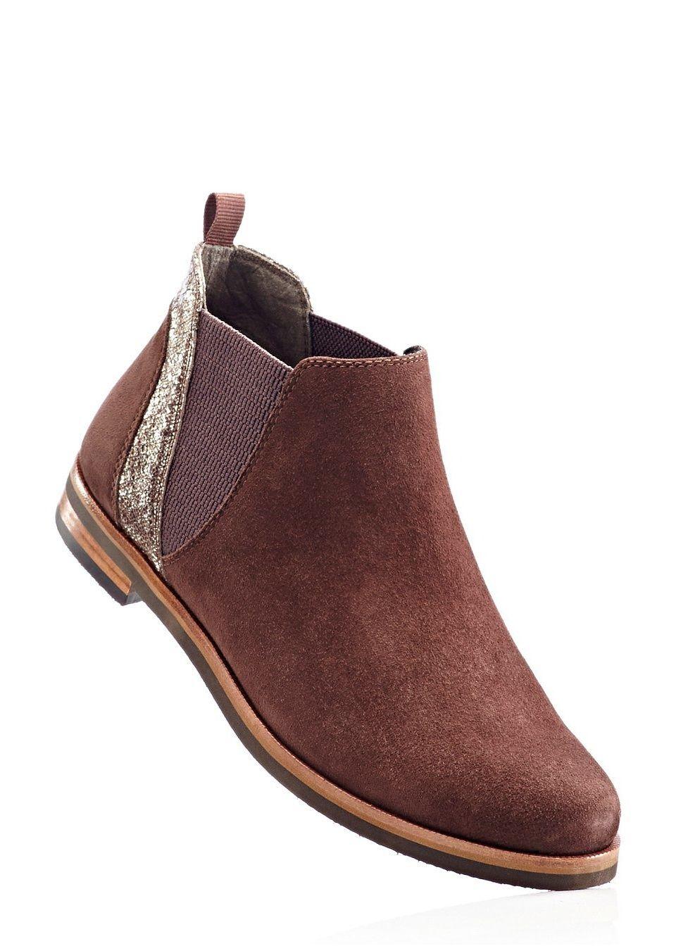 Удобные замшевые ботинки от bonprix