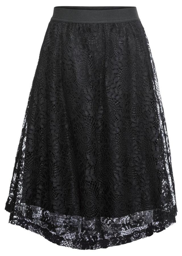 12f72cd4be9f Sukňa čierna Rozšírená sukňa z jemnej • 17.99 € • bonprix