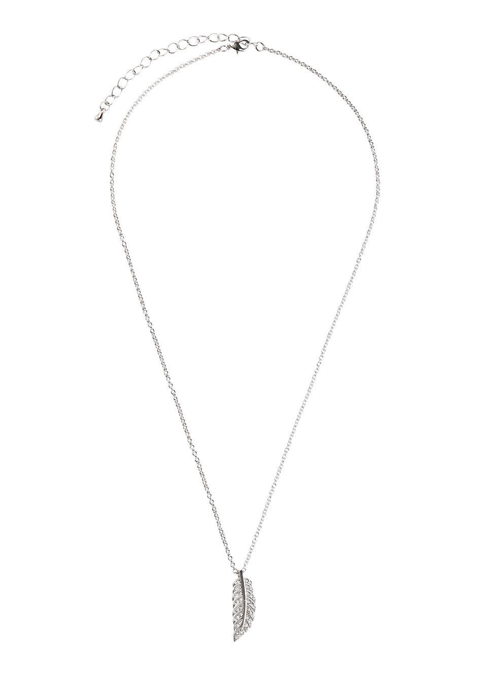 Łańcuszek z kryształami Swarovskiego® bonprix srebrny kolor rodowany